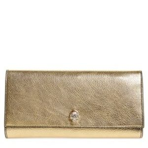 NEW Alexander McQueen Leather Clutch Wallet
